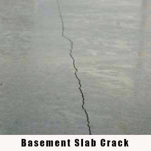 Basement Slab Crack - Charlotte Crawlspace Solutions - (704) 989-8219