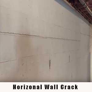 Horizonal Wall Crack - Charlotte Crawlspace Solutions, LLC 704.989.8219