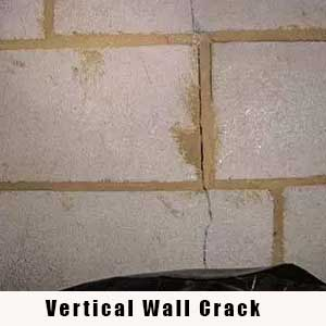 Vertical Cracked Wall - Charlotte Crawlspace Solutions - (704) 989-8219