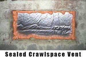 sealed crawlspace vent