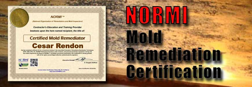 NORMI Mold Remediation Certification - Charlotte Crawlspace Solutions