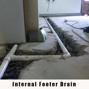 interior footer drain
