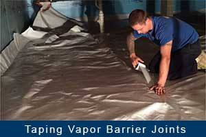 taping vapor barrier joint